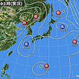 25日 関東は日差し少なめ 西日本は夏空