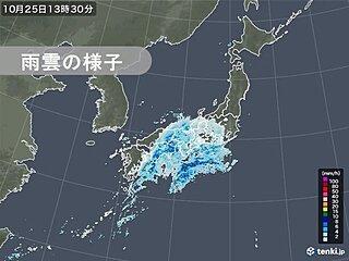 和歌山県で激しい雨を観測 関東でも夜の帰宅時間は雨や雷雨に