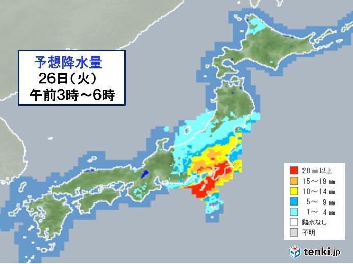 あす朝の通勤通学 関東は雨や風が強まる 時間に余裕をもって