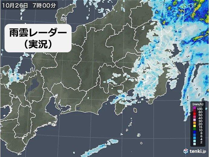 きょう26日(火)の関東 午後は晴れて、肌寒さは解消 昼前まで暴風や高波に警戒