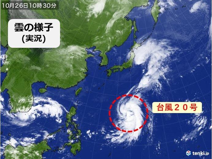 台風20号 「強い勢力」で小笠原諸島へ近づく恐れ 台風への備えは早めに
