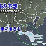 27日(水)関東甲信 晴れていても油断せず 日中はすっきりせず曇雨天へ
