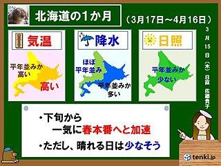 北海道の1か月 春本番に向って加速!