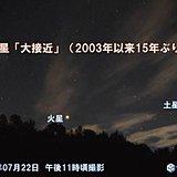 火星 15年ぶりの「大接近」