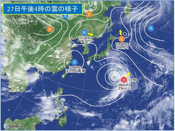 強い台風12号 速度を上げて週末列島直撃