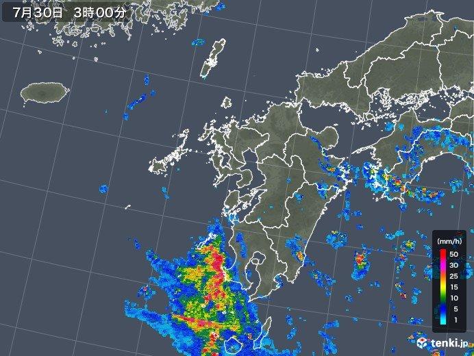 台風12号 九州の西で停滞 影響長引く