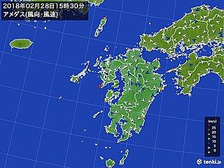 長崎県で30メートル 全国的に暴風へ