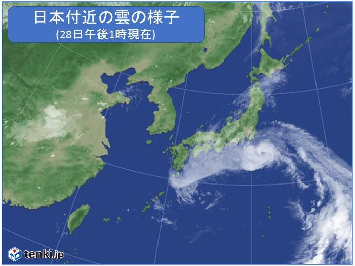 台風12号、強い勢力を維持して関東に接近