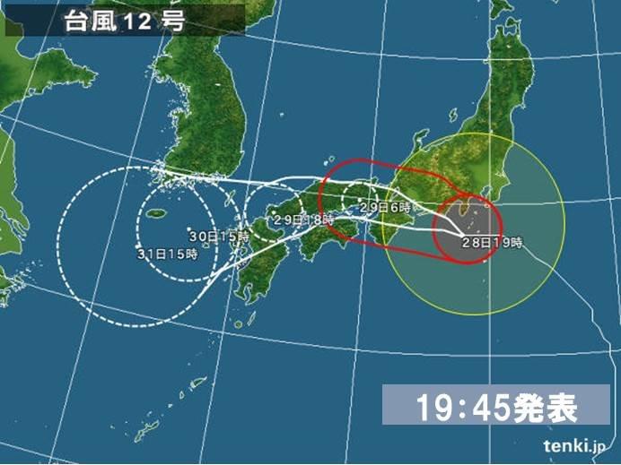 台風の進路予報