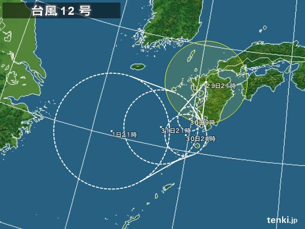 台風12号 九州付近を南へ 異例の...