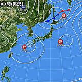 1日 8月猛暑でスタート 天気急変も