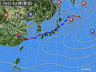 16日 全国的に雨 気温大幅ダウン