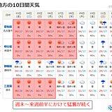 東海 週末も猛暑が続く