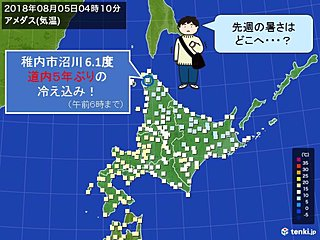 北海道は猛暑一転 記録的冷え込みに