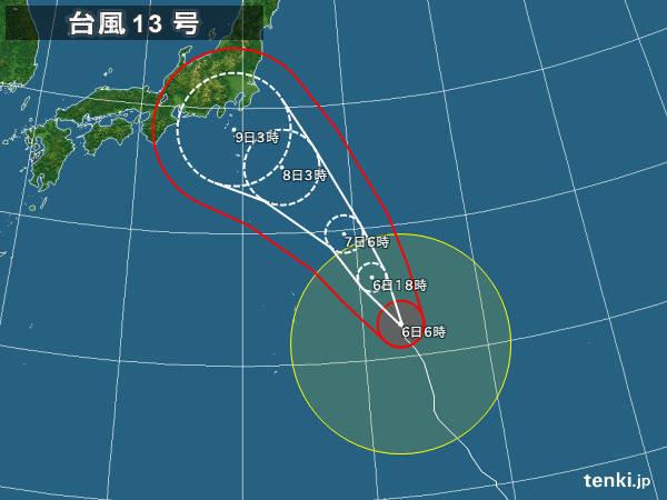 6日 前線活動活発化 東北・関東大雨警戒