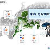 東海 7日は変わりやすい天気