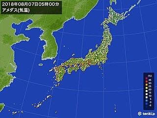立秋 東京も涼しい朝 北は霜も降りるほど