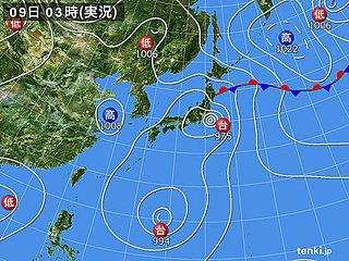 9日 台風13号東北へ 関東は再び厳暑に