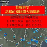 長野県で記録的短時間大雨情報