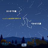 お盆休みの天体ショー ペルセウス座流星群