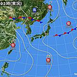 13日 東海・関東甲信を中心に激しい雨