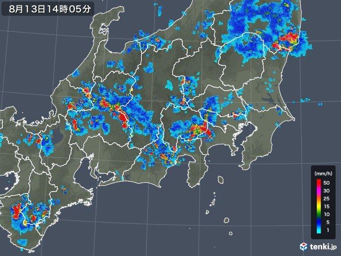 関東に活発な雷雲 非常に激しい雨の恐れ