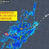 西表島で約120ミリ 記録的短時間大雨