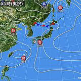 15日 南は台風 北は前線