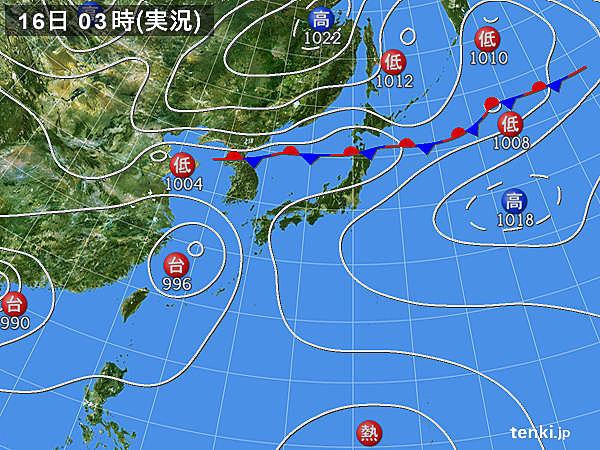 16日 広く大雨の恐れ 東北は記録的な雨