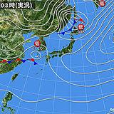19日 広く雨 強風や高波に注意