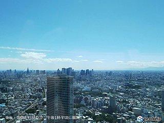 都心9年ぶり8月に湿度20%台 横浜1位