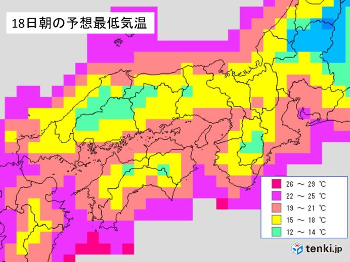 17日夜 西日本・東海の天気と注意点