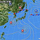 南からダブル台風 北から前線 この先は