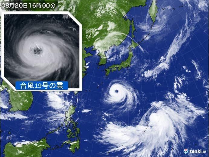 台風19号、奄美や九州南部で大荒れの恐れ