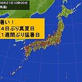 朝から蒸し暑い 東京30度、大阪35度超