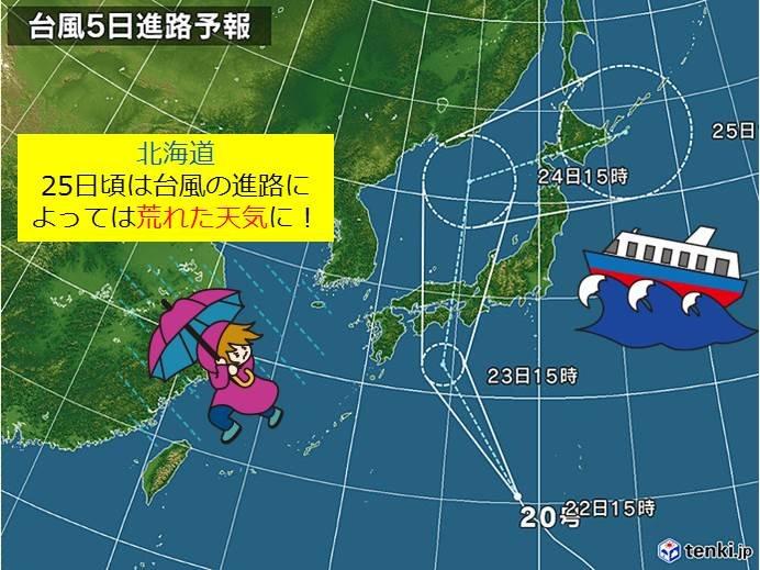 北海道 週末にかけて台風の進路に注意