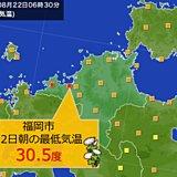 福岡 最低気温30.5度のスーパー熱帯夜