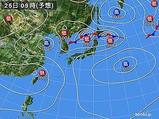 北海道 低気圧と前線による大雨に警戒を!