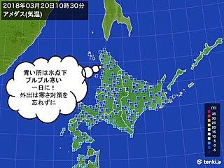 北海道 久しぶりの真冬日も