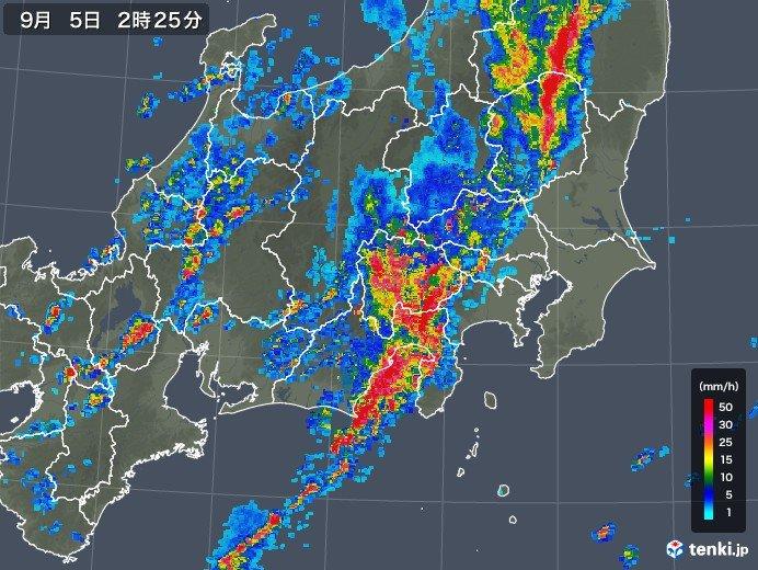 東京など関東甲信・東海地方に竜巻注意情報