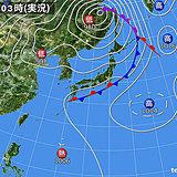 6日 北と西は不安定 急な雨や雷雨に注意