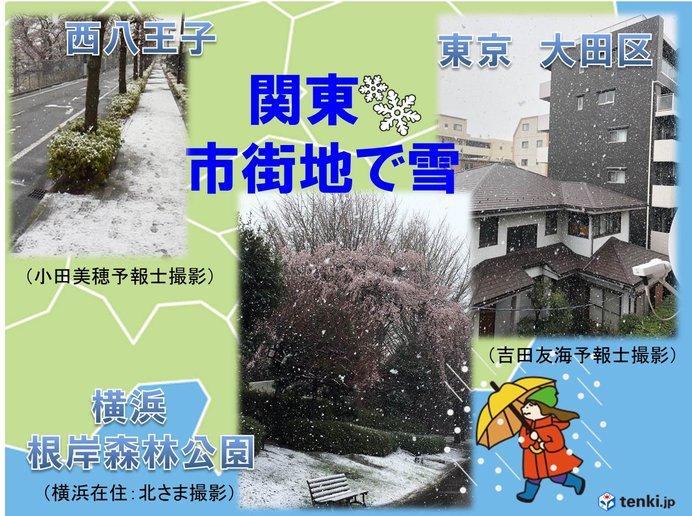 東京・横浜は雪 箱根は通行止め