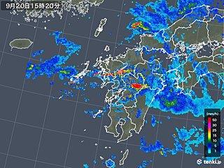 熊本県で次々1時間100ミリ超の猛烈な雨