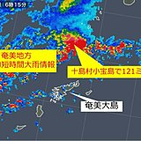 奄美地方に記録的短時間大雨情報