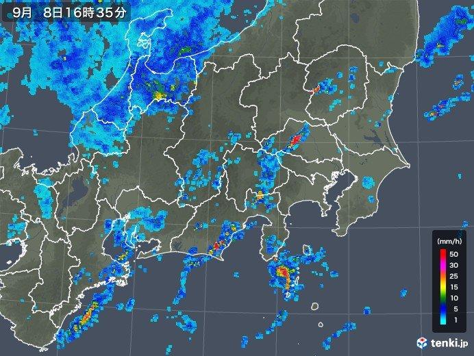 関東南部に活発な雨雲 急な激しい雨に注意