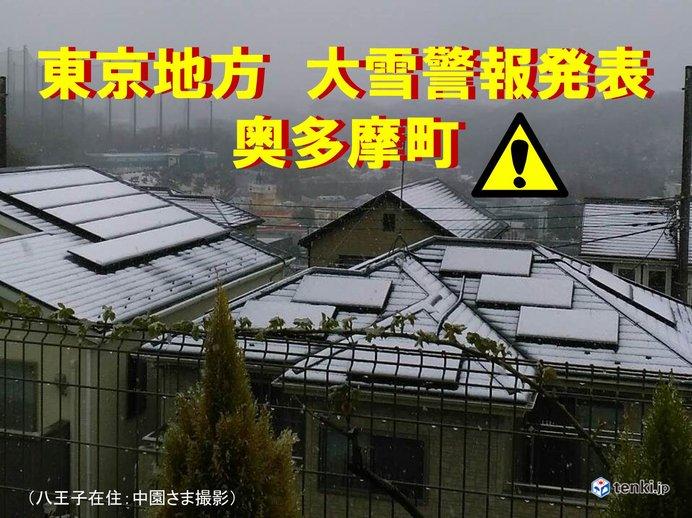 東京都内に「大雪警報」