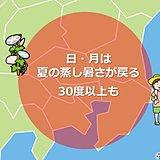 関東あすから夏 不快な蒸し暑さ 急な雨も