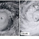 台風22号 通過後も大型で非常に強い勢力