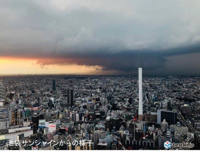 関東に活発な雨雲 東京も激しい雨注意