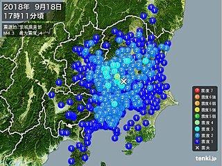 埼玉県北部で震度4の地震